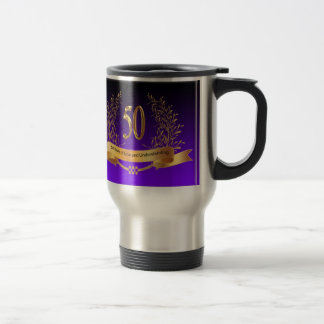 50th Wedding Anniversary Travel/Commuter Mug