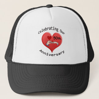 50th. Wedding Anniversary Trucker Hat