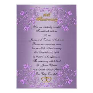 50th Wedding anniversary vow renewal Lavender Card