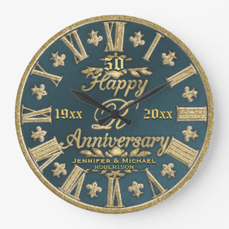 50th Wedding Anniversary Wallclock