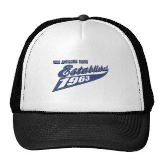 50th year birthday designs hats