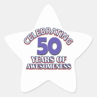 50th year birthday designs stickers