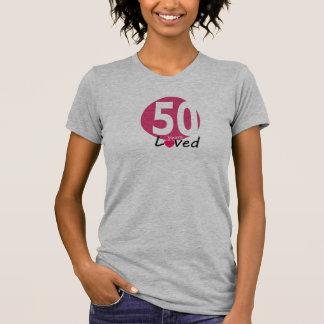 50th years loved women birthday tshirt
