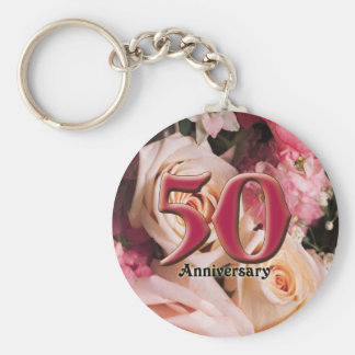 50thanniversary2 basic round button key ring