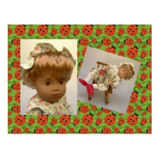 514s Sasha baby Rosie Flower Dress postcard