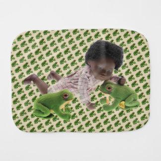 519 Sasha Cara Black baby spitting cloth Baby Burp Cloth