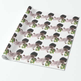 519 Sasha Cara Black baby Wrapping Paper