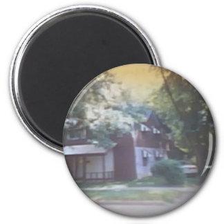 519 W. Clinton st. 6 Cm Round Magnet
