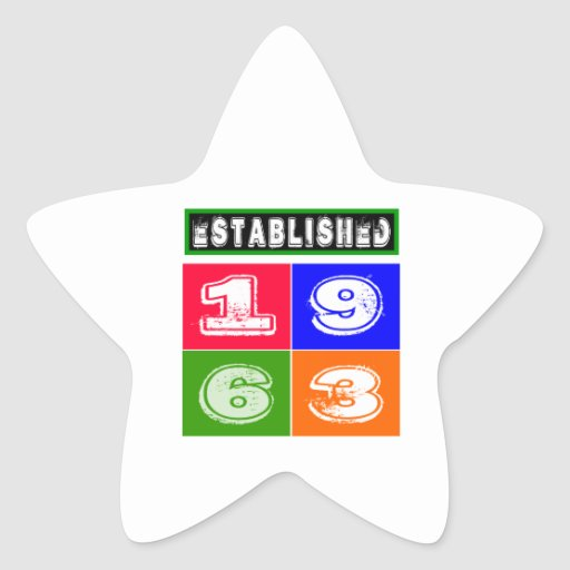 51 Birthday Designs Star Stickers