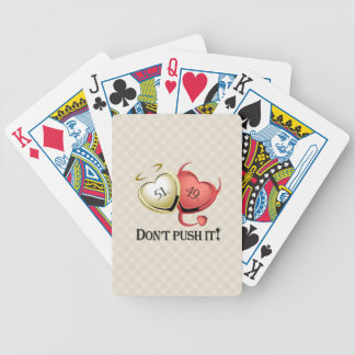 51% Good 49 % Bad Dont Pust It! Bicycle Playing Cards