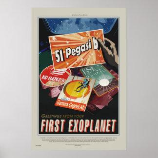 51 Pegasi b Tour - Exoplanet Travel Bureau Poster
