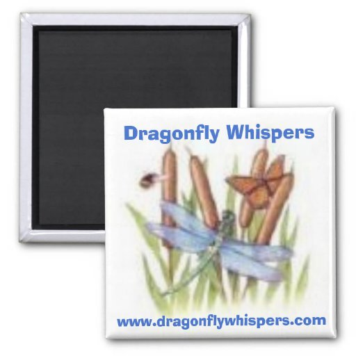 520116453, Dragonfly Whispers, www.dragonflywhi... Fridge Magnets
