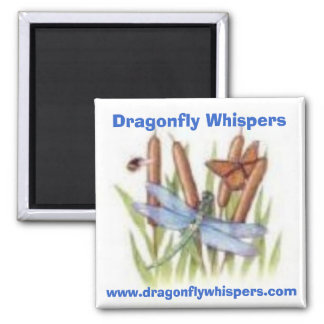 520116453, Dragonfly Whispers, www.dragonflywhi... Square Magnet