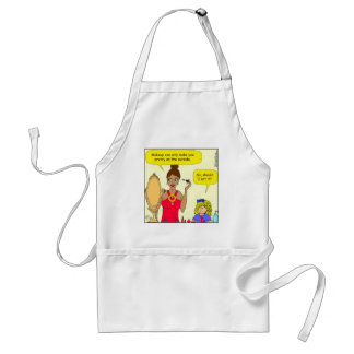 528 eat make up cartoon standard apron