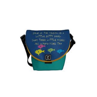 $ 52,95 / € 41,75  Three Fishies song School Bag Messenger Bag