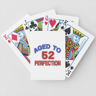 52 Aged To Perfection Bicycle Playing Cards