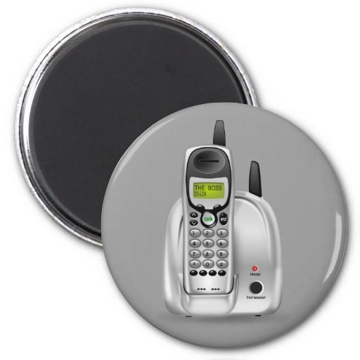 52-Free-3d-Cordless-Phone-Clipart-Illustration Refrigerator Magnets