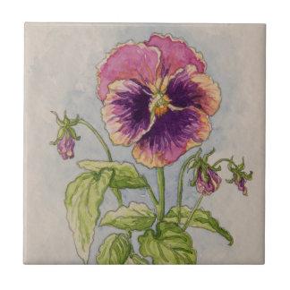 5307 Purple Pansie Tile