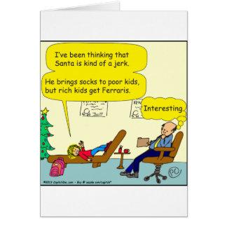 530 santa is a jerk cartoon card