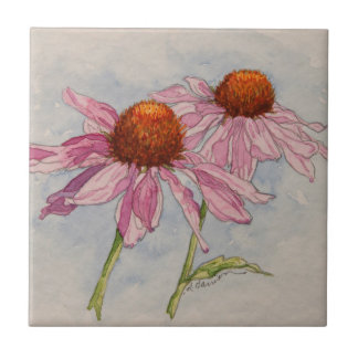 5313 Pink Coneflowers Tile