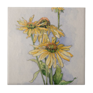 5331 Yellow Coneflowers Ceramic Tile