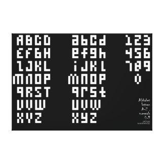 53 font canvas print