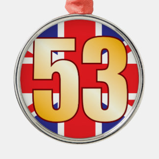 53 UK Gold Silver-Colored Round Decoration
