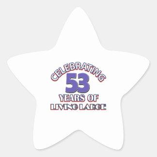 53 years of living large birthday designs sticker