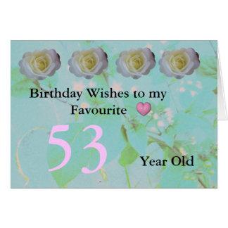 53rd Birthday Card