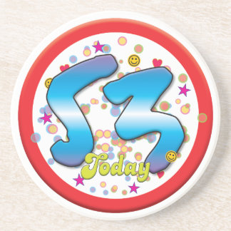 53rd Birthday Today Beverage Coasters