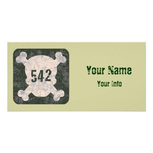 542 & Crossbones Customized Photo Card