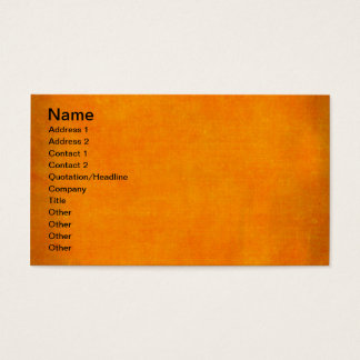 5451_sports ORANGE POPSICLE TEXTURE BACKGROUND TEM Business Card