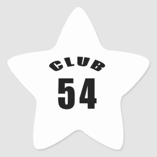 54 Club Birthday Designs Stickers