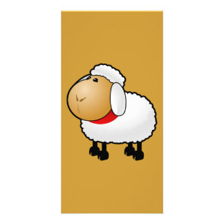 54-Free-Cartoon-Sheep-Clipart-Illustration Photo Card Template