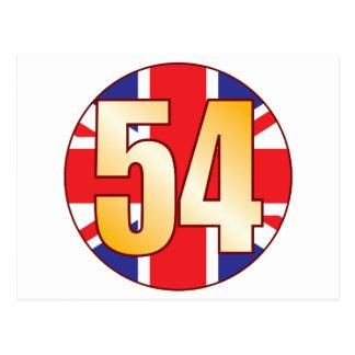 54 UK Gold Postcard