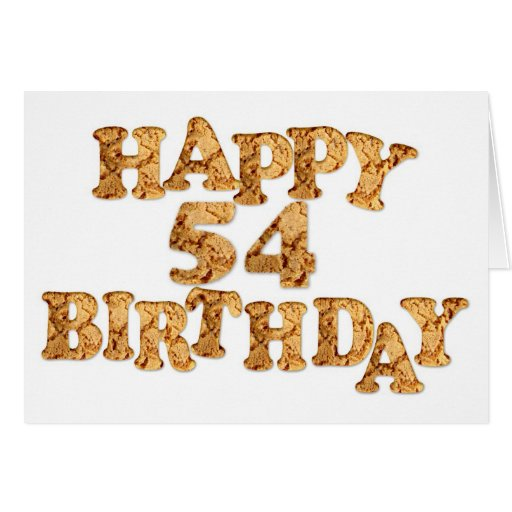 54th Birthday card for a cookie lover