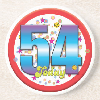 54th Birthday Today v2 Beverage Coasters