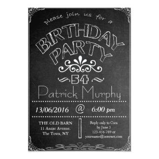 54th Chalkboard Birthday Celebration Invitation
