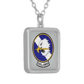 552nd Aircraft Maintenance Squadron - AMXS Square Pendant Necklace