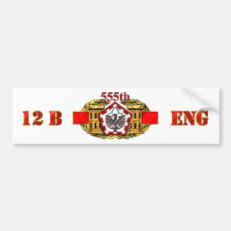555th Engineer Brigade Car Bumper Sticker