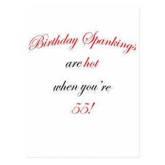 55  Birthday spankings are hot! Postcard