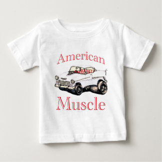 55 chevy American Muscle Baby T-Shirt