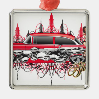 55 chevy car.jpg metal ornament