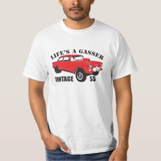 55 Chevy Gasser Hot Rod Rat Rod Drag Racer Vintage T-Shirt