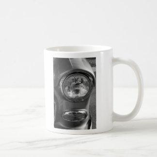 55 Chevy Headlight Grayscale Coffee Mug