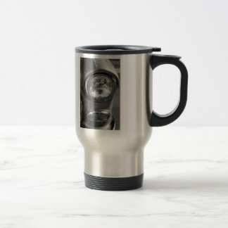 55 Chevy Headlight Grayscale Travel Mug