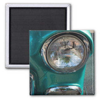 55 Chevy Headlight Square Magnet