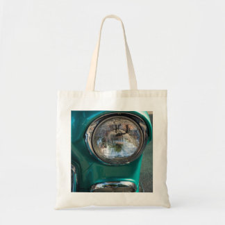 55 Chevy Headlight Tote Bag