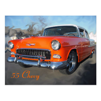 55 Chevy Postcard