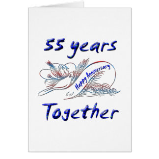 55th. Anniversary Card